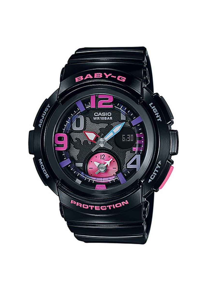 Hitam color Jam Analog . Jam Tangan Casio Baby-G Original World Time BGA-190-1B Original -