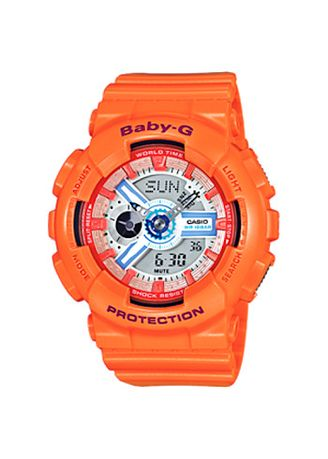 Orange color Analog . Jam Tangan Wanita Sporty Casio Baby-G Original BA-110SN-4A Original -
