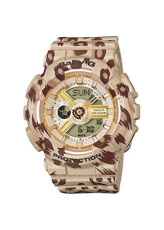 Beige color Analog . Jam Tangan Wanita Sporty Casio Baby-G Original BA-110LP-9A Original -