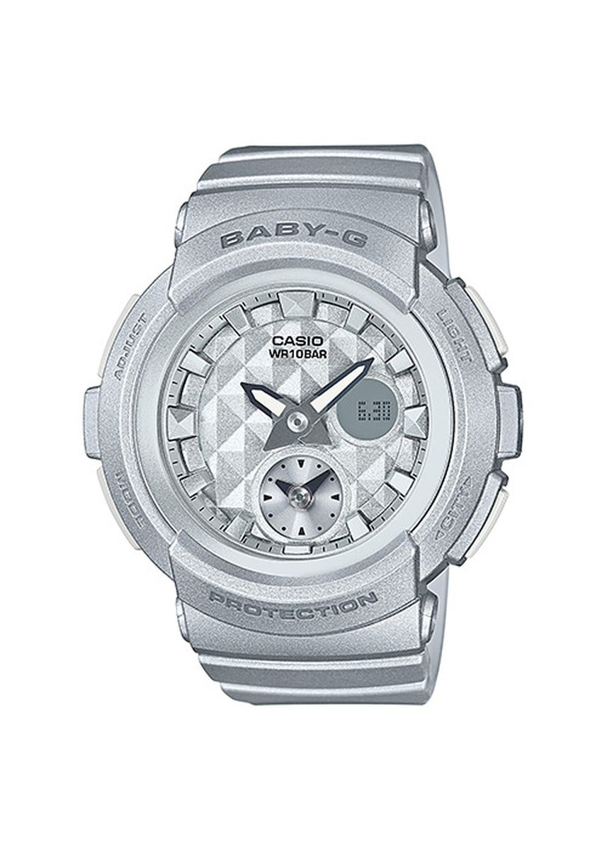 Silver color Analog . Terbaru ! Jam Tangan Wanita Sports Casio Baby-G Original BGA-195-8A -