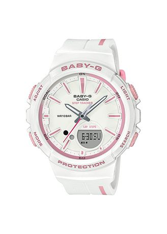 White color Analog . Jam Tangan Wanita Sports Casio Baby-G Original BGS-100RT-7A Original -