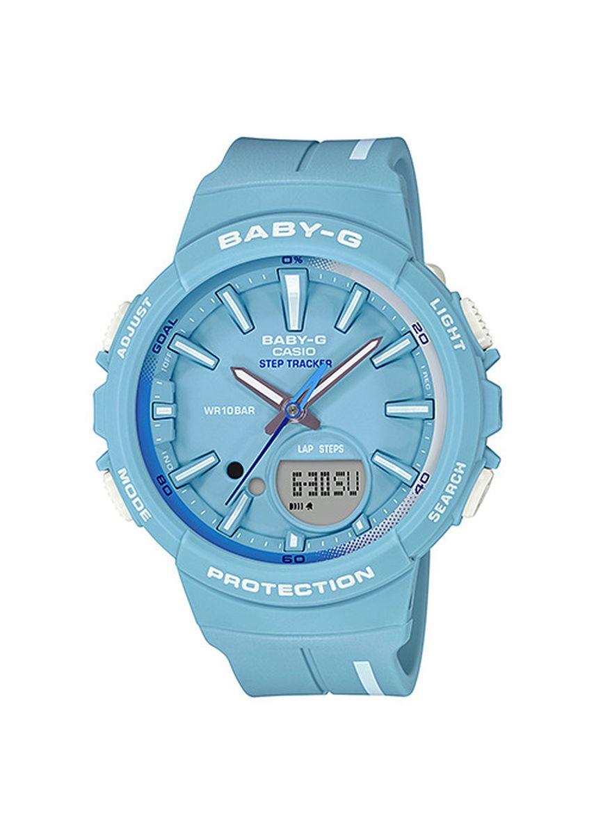 Light Blue color Analog . Jam Tangan Wanita Sports Casio Baby-G Original BGS-100RT-2A Original -