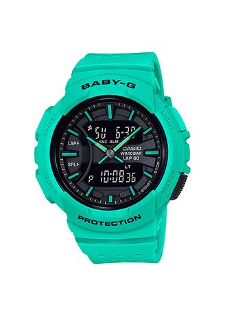 Green color Analog . Jam Tangan Wanita Sporty Dual Time Casio Baby-G Original BGA-240-3A -