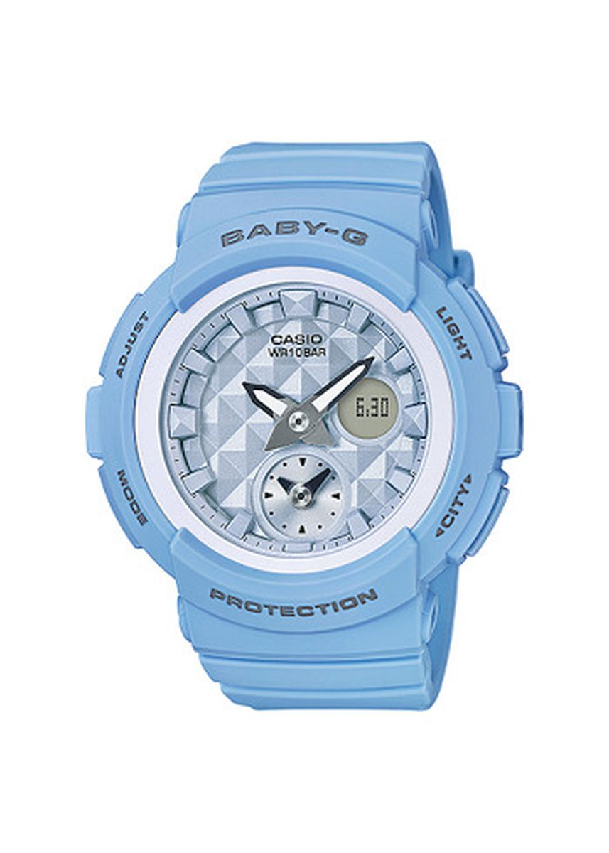 Biru Muda color Jam Analog . Jam Tangan Wanita Sporty Casip Baby G Original BGA-190BE-2A Original -