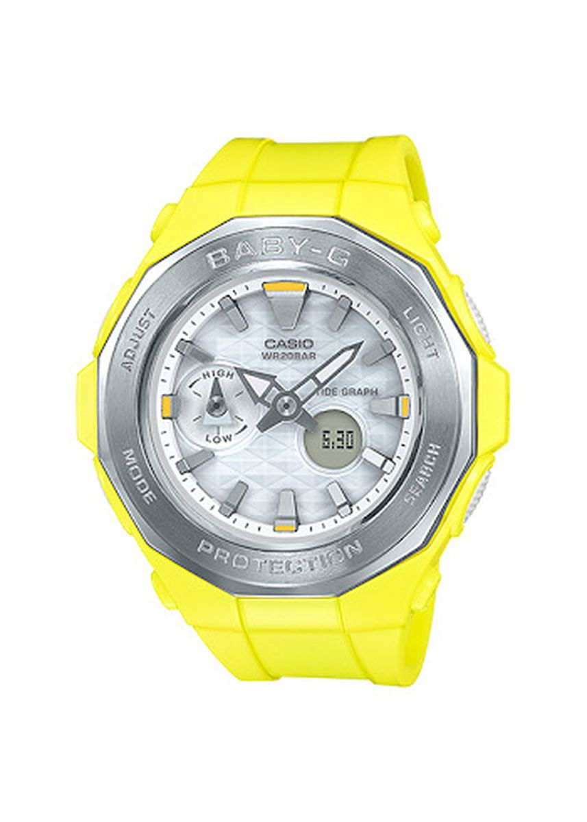 Yellow color Analog . Jam Tangan Wanita Sport DualTime Casio Baby G -BGA-225G-9A Original -