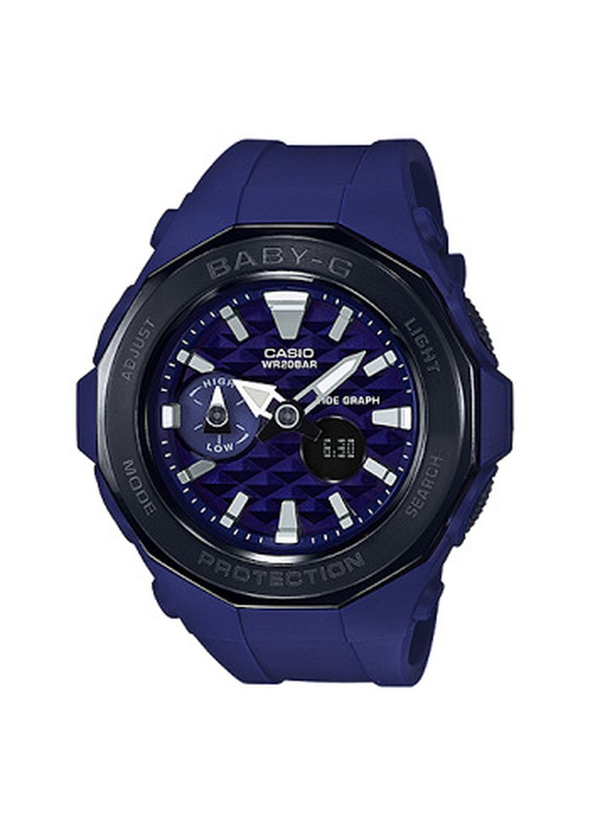 Navy color Analog . Jam Tangan Wanita Sport DualTime Casio Baby G -BGA-225G-2A Original -