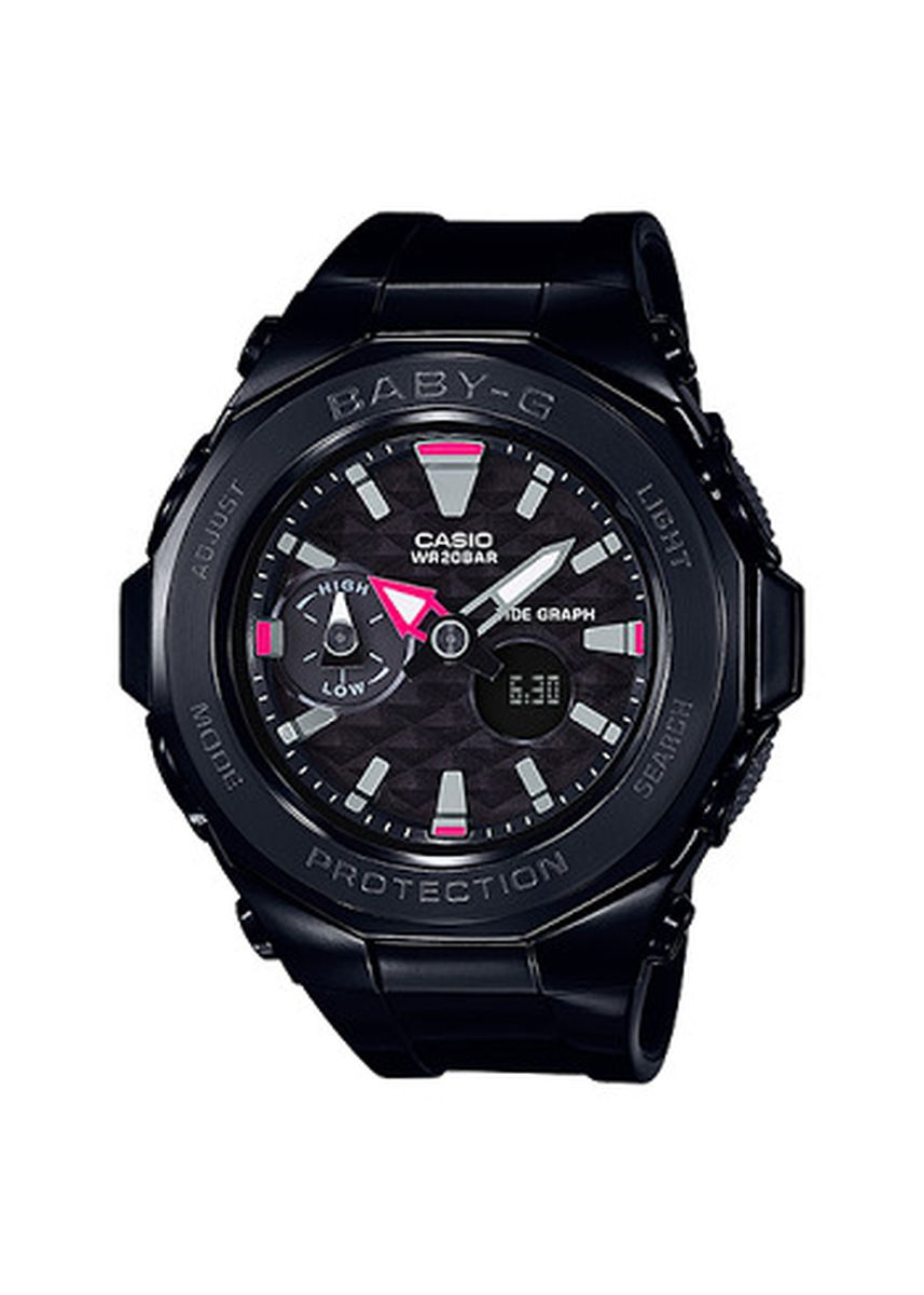 Black color Analog . Jam Tangan Wanita Sport DualTime Casio Baby G -BGA-225G-1A Original -