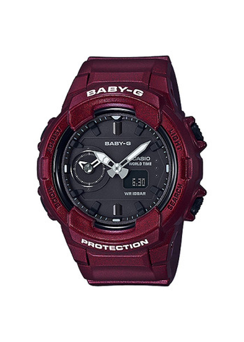 Red color Analog . Jam Tangan Wanita Casio Baby G Protection BGA-230S-4A Original -