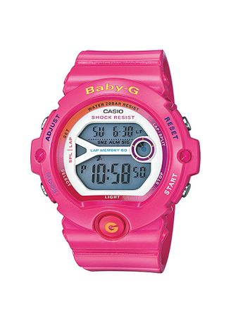 Merah Muda color Jam Analog . Jam Tangan Wanita Sports Runner Watch Casio Baby G BG-6903-4B Original -