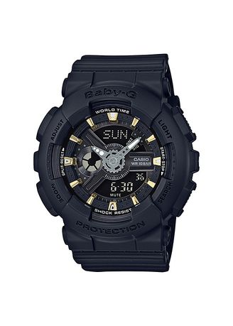 Black color Analog . Jam Tangan Wanita Sport Casio Baby-G Original World Time BA-110GA-1A -