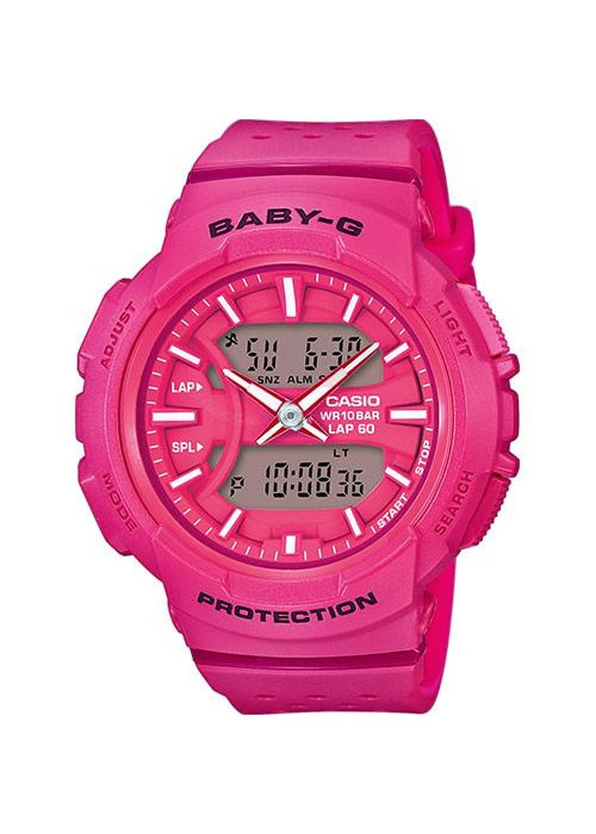 Merah Muda color Jam Analog . Jam Tangan Wanita Sporty Dual Time Casio Baby-G Original BGA-240-4A -