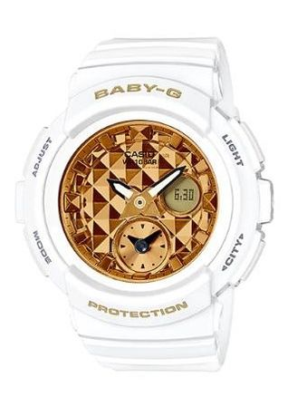 White color Analog . Terbaru !! Jam Tangan Wanita Sporty Casio Baby-G Original BGA-195M-7A -