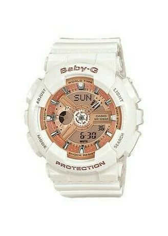 White color Analog . Jam Tangan Wanita Sporty Casio Baby-G Original DualTime BA-110-7A1 -