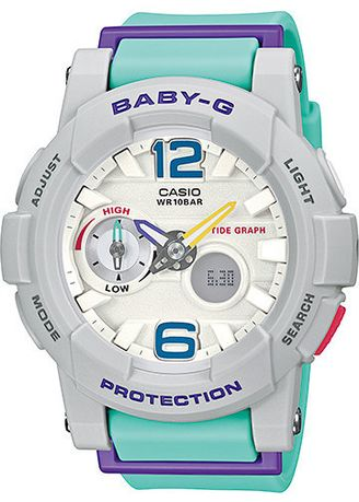 Cyan color Analog . Jam Tangan Wanita Sports Jam Casio Baby-G Original Bga-180-3B G-Shock -