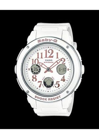 White color Analog . Jam Tangan Wanita Sports Casio Baby-G Original BGa-150-7B Shock Resist -