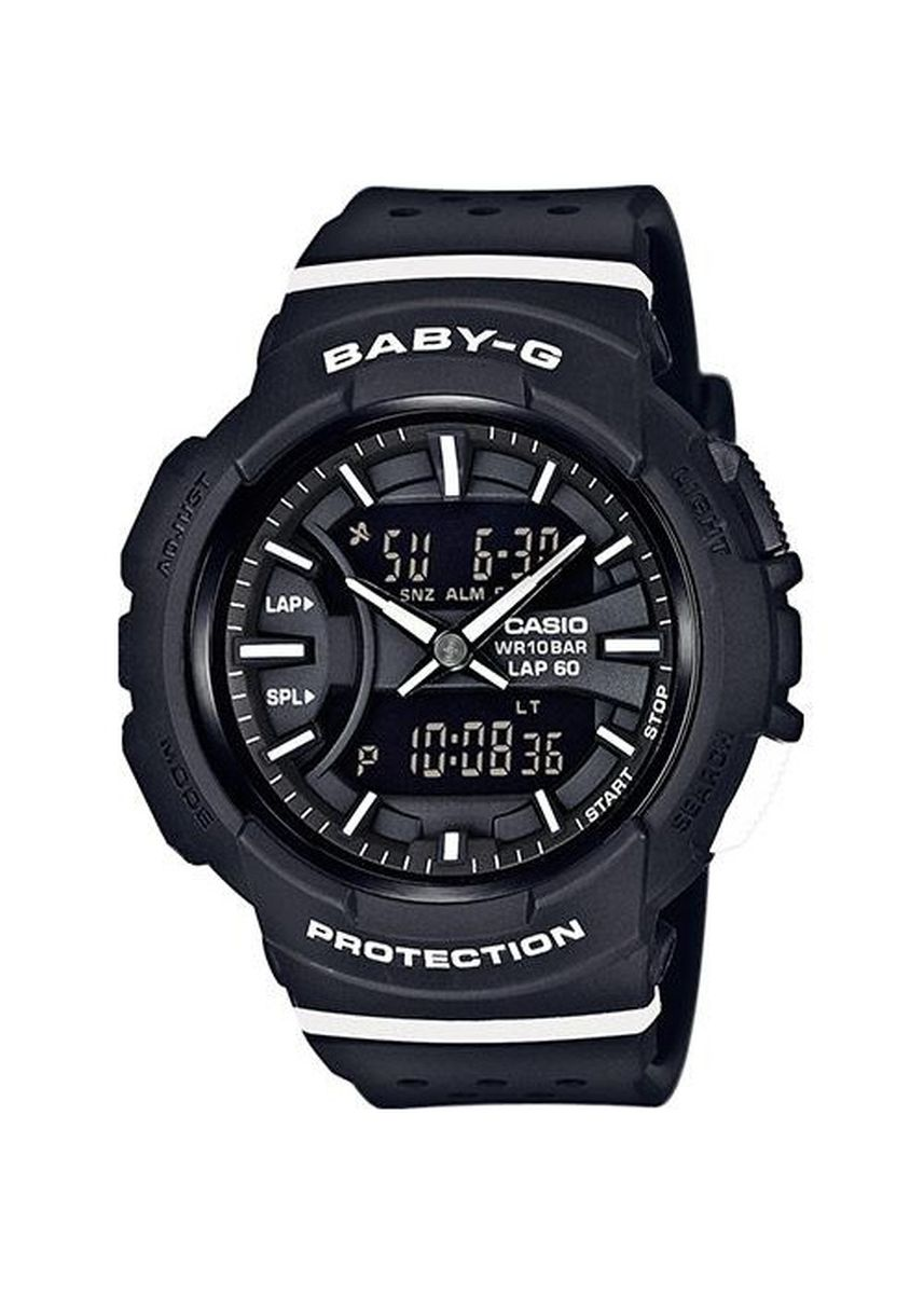 Hitam color Jam Analog . Jam Tangan Wanita Sporty Dual Time Casio Baby-G Original BGA-240-1A1 -
