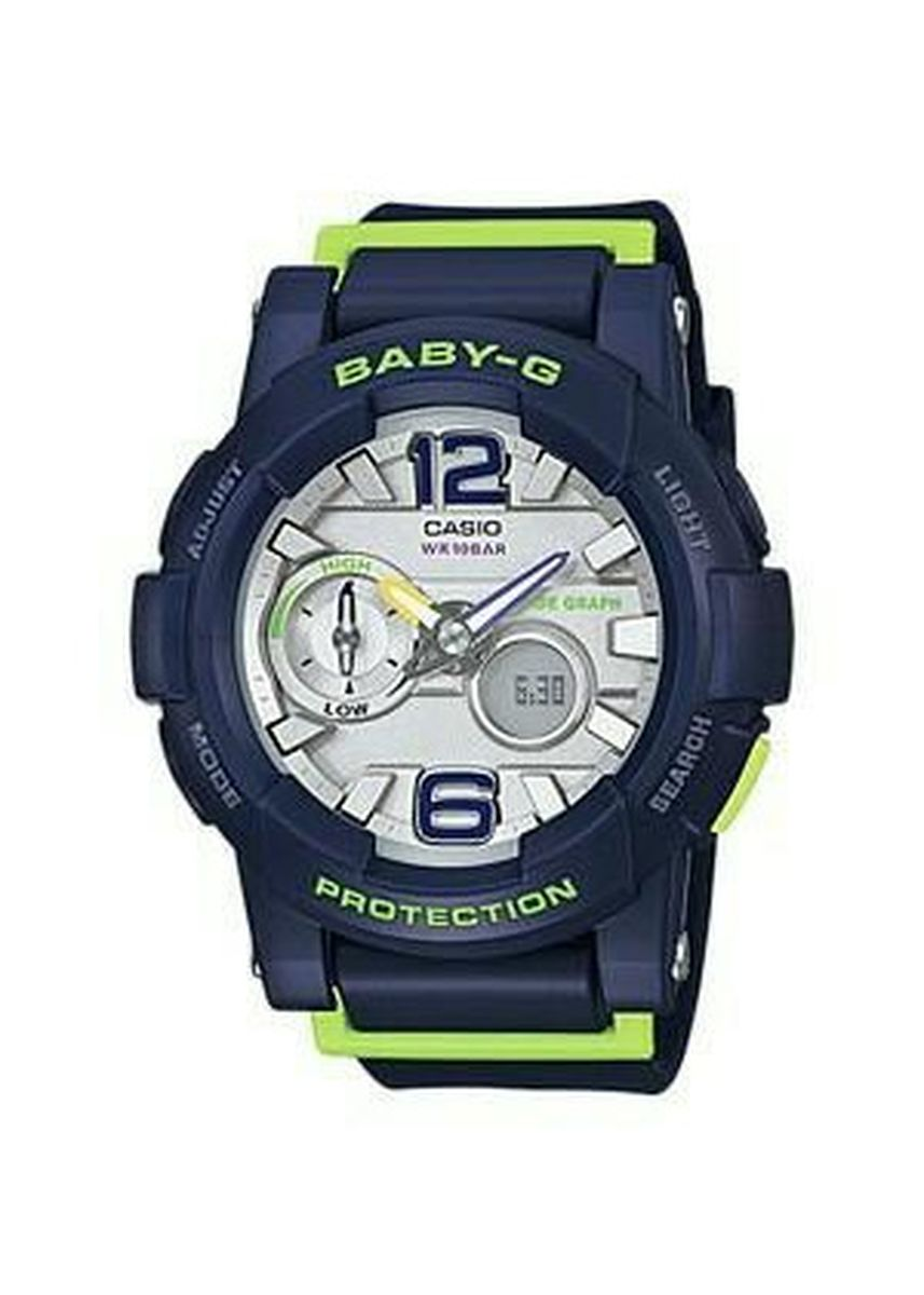 Navy color Analog . Jam Tangan Wanita Sports Dualtime Casio Baby-G Original BGA-180-2B -