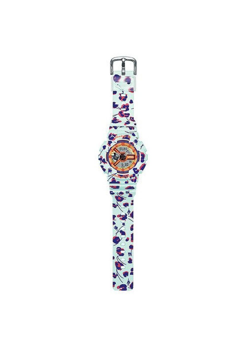 Cyan color Analog . Jam Tangan Ladies Sporty Casio Baby-G ORiginal Leopard BA-110FL-3A -