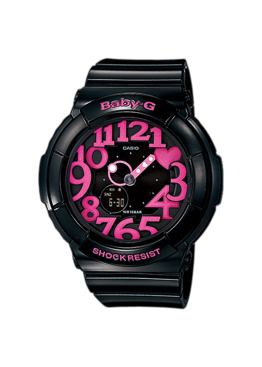 Hitam color Jam Analog . Jam Tangan Wanita Sport Casio Baby-G Original World Time BGA-130-1B -