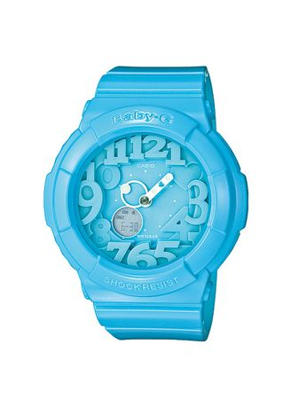 Blue color Analog . Jam Tangan Wanita Sport Casio Baby-G Original World Time BGA-130-2B -