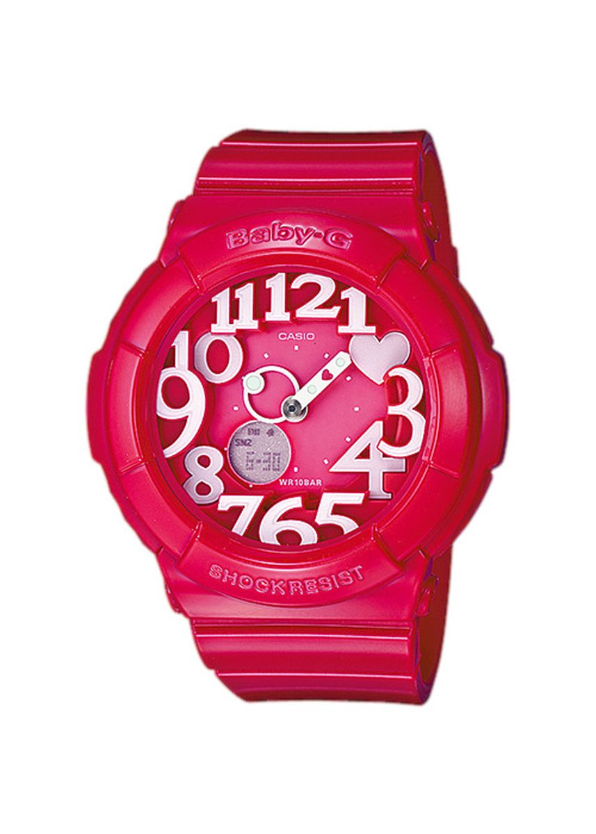 Merah Muda color Jam Analog . Jam Tangan Wanita Sport Casio Baby-G Original World Time BGA-130-4B -