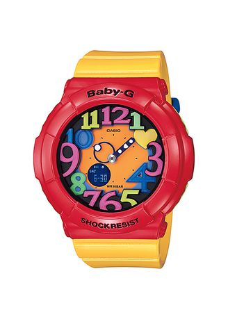 Yellow color Analog . Jam Tangan Wanita Sport Casio Baby-G Original World Time BGA-131-4B5 -