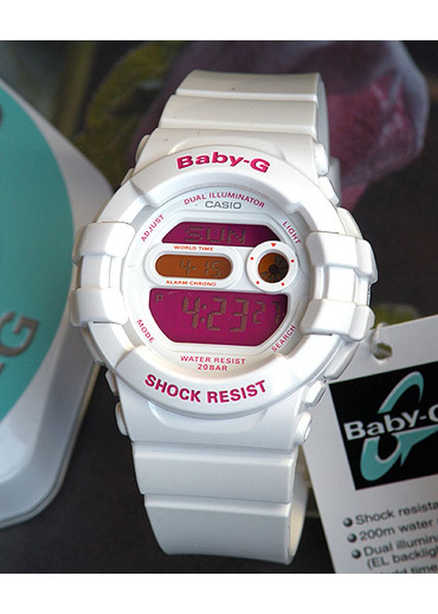 White color Analog . Jam Tangan Sports Digital Wanita Casio Baby-G BGD-140-7B Original -