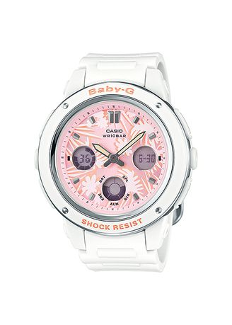 White color Analog . Jam Tangan Wanita Sports Casio Baby-G Original BGA-150F-7A Dual Time -
