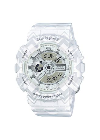Putih color Jam Analog . Jam Tangan Wanita Sports Casio Baby-G Original BA-110TP-7A -