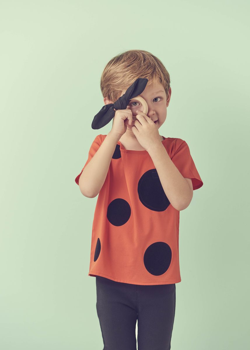 Orange color Tops . Beespoke: The Rabbit Hole Top (3-4 years old) -