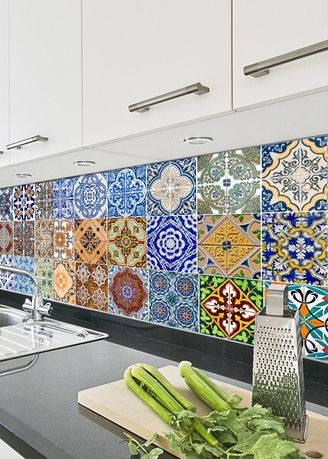 Home Decor . Backsplash Tile Stickers Tile Decals Stair Decals Stickers for Kitchen -