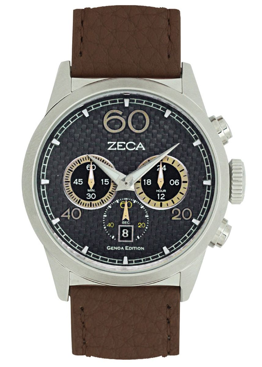 Silver color Analog . Zeca Genoa Edition Male Analogue-240M.LBR.C.S7 -
