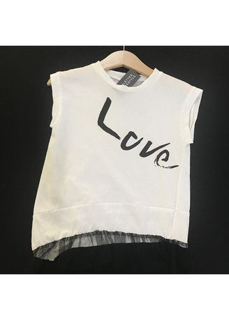 White color Tops . Love Top -