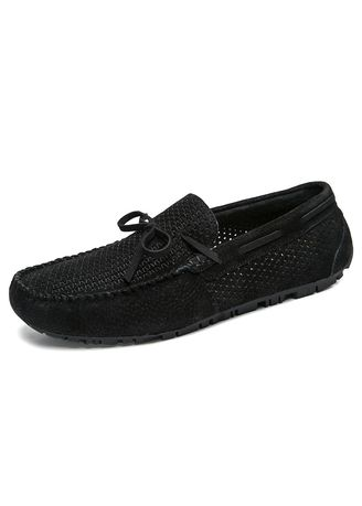 Black color Casual Shoes . Driving Penny Loafers Suede Summer Shoe -