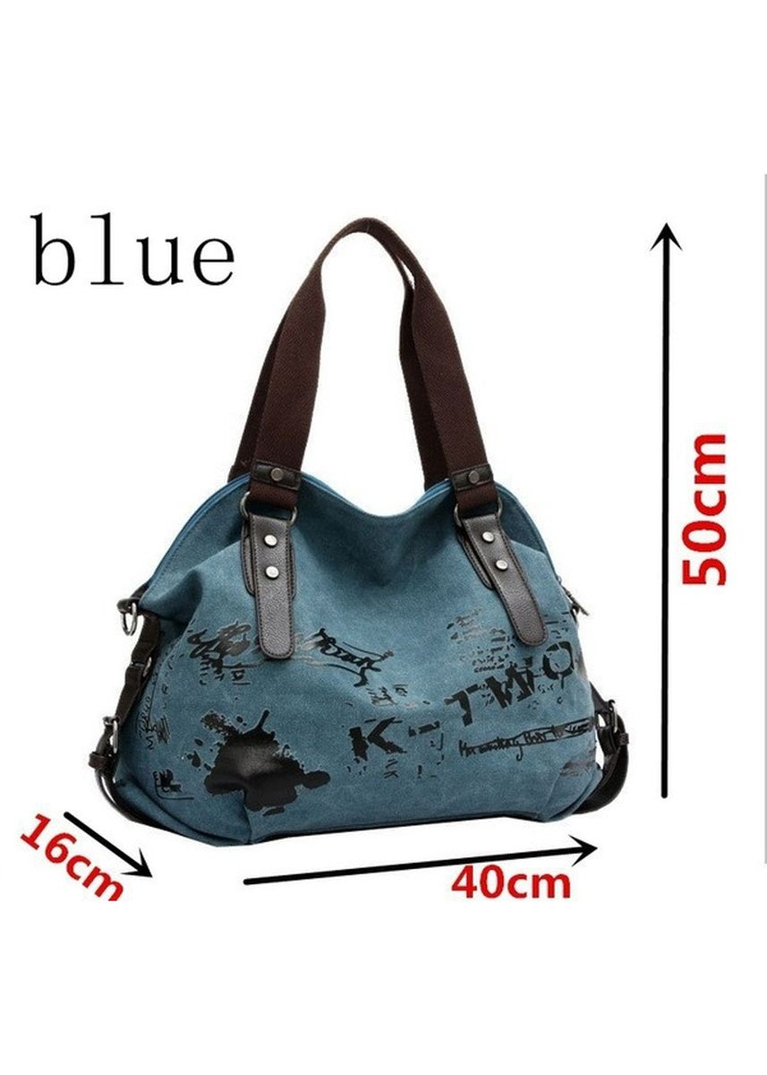Blue color Hand Bags . Street Fashion Portable Tote Handbag  -