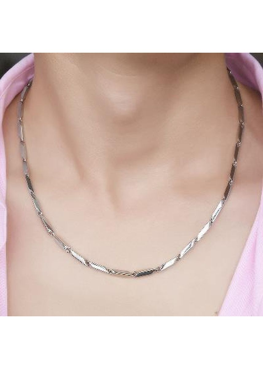 Silver color Necklaces . 316L Stainless Steel necklace for men -