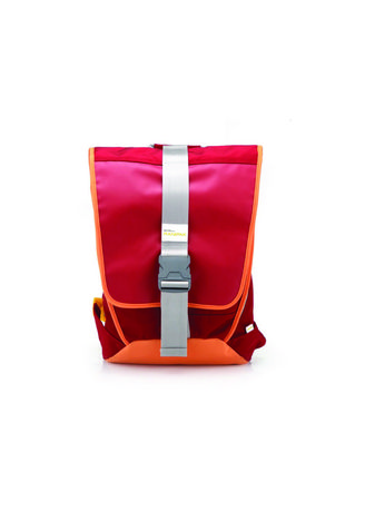 Red color Backpacks . PREMIER DURABLE SOLID FLAP BACKPACK กระเป้าเป้-RED -