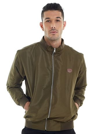 Green color Outerwear . Jaket Pria BASIC -