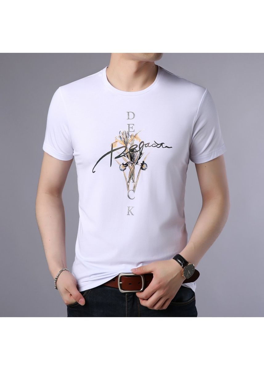 White color Casual Shirts . Short Sleeve Graphic Printed T-shirt -