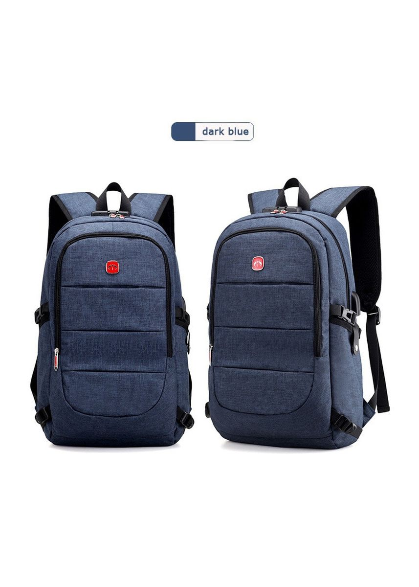 Blue color Backpacks . Multifunction Laptop Backpack External Travel Bag -