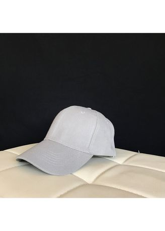 Light Grey color Hats and Caps . Baseball Cap - Grey -