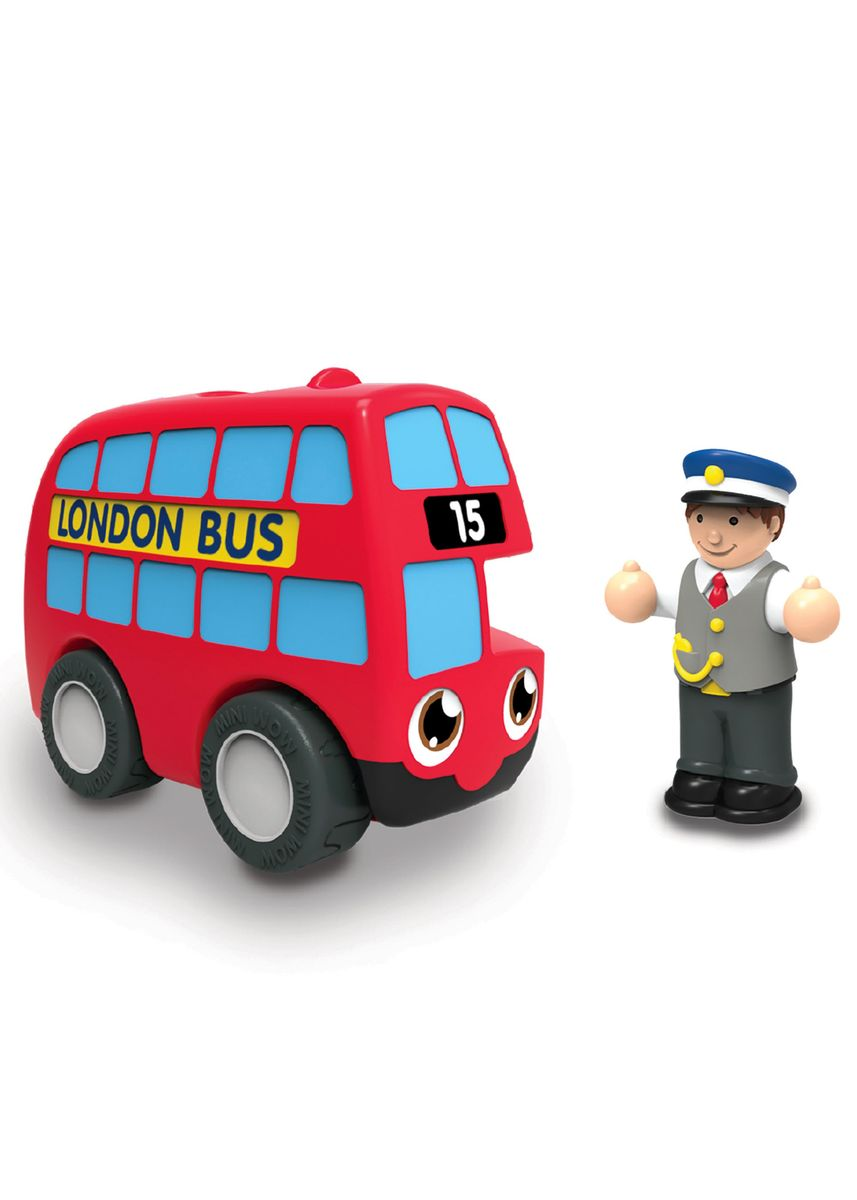 Multi color Toys . Wow Toys My First WOW- Red Bus Basil -