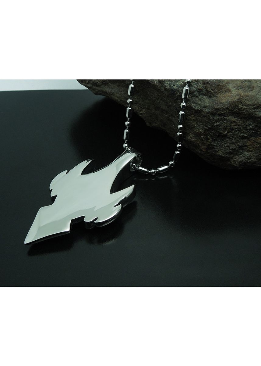 Silver color Necklaces . Wolf Tooth War Fighter Mens and Womens Titanium Steel Pendant Necklace -