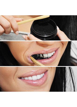 Pemutih Gigi Ampuh Teeth Whitening Charcoal 100 Natural Arang