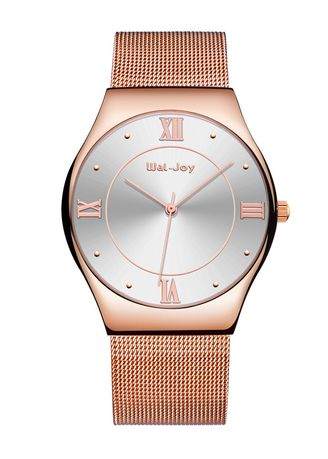 Pink color Analog . Men's Classic Barrel Type Dial Alloy Watch -