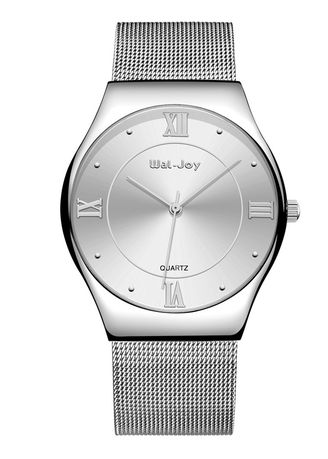 Silver color Analog . Men's Classic Barrel Type Dial Alloy Watch -