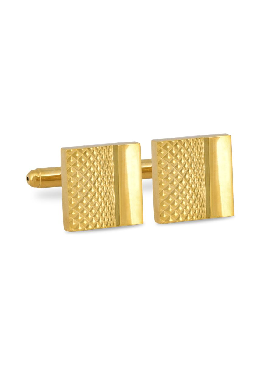 Gold color Cufflinks . MarZthomson Square Cufflinks With Fine Intrica Details -