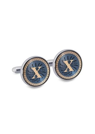 Gold color Cufflinks . MarZthomson Gold Monogram Cufflinks With Lacquer Finish - X -