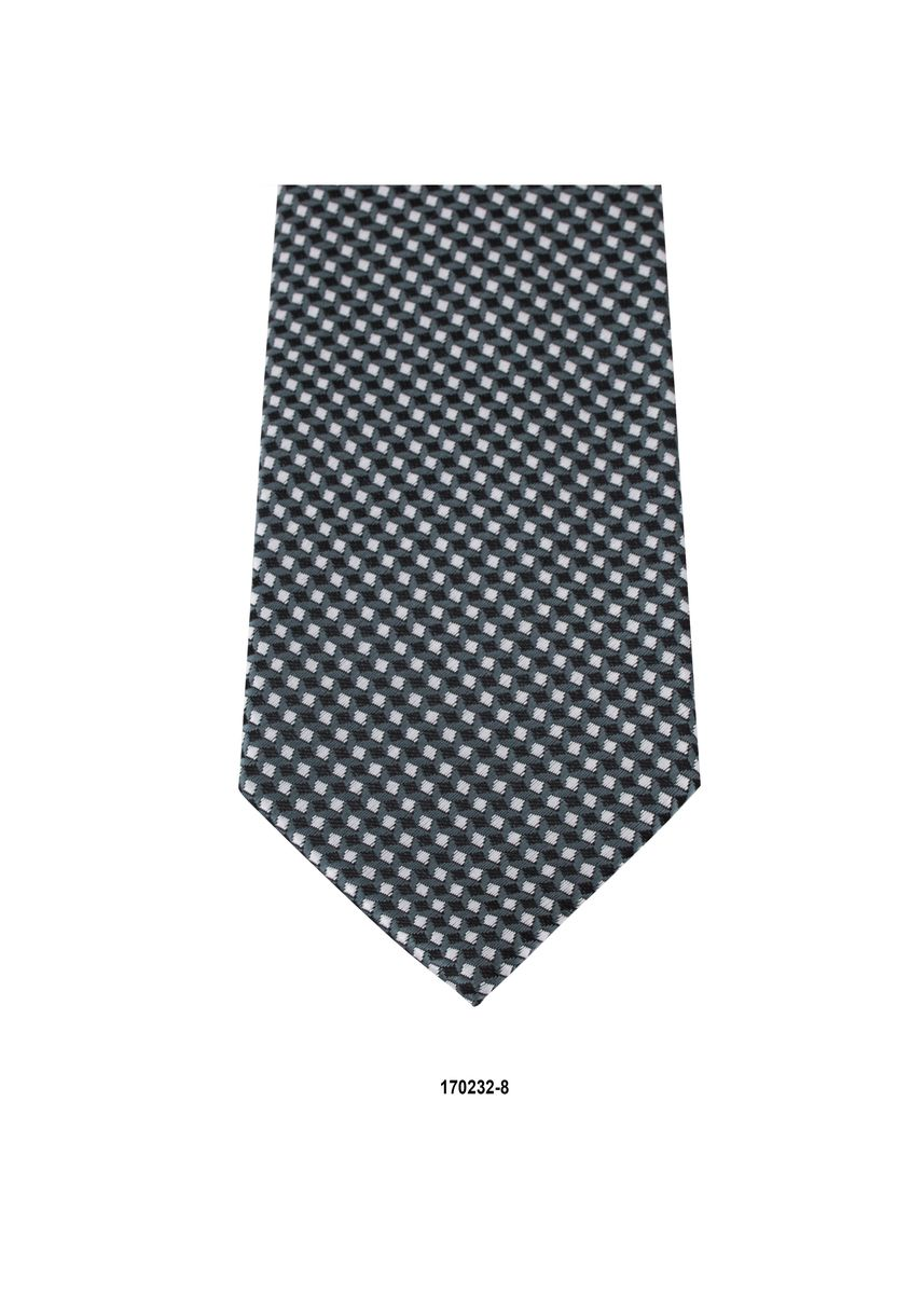 Blue color Ties . MarZthomson 8Cm White And Black Square Woven Tie -