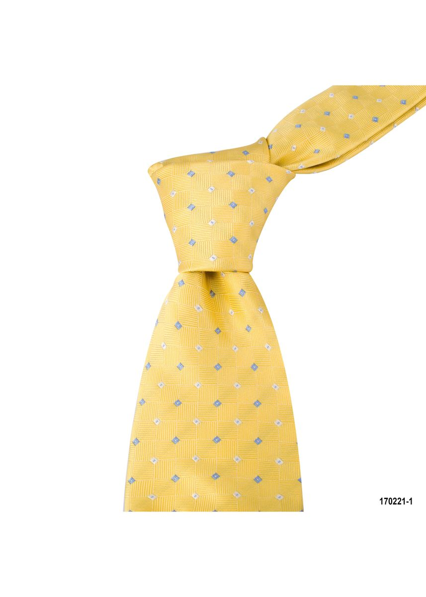 Yellow color Ties . MarZthomson 8Cm Woven Texture With Specks Tie -